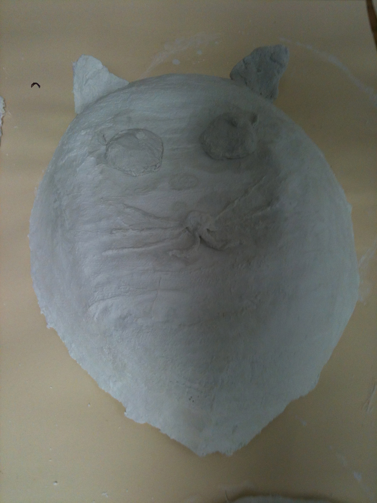 Cat mask under construction