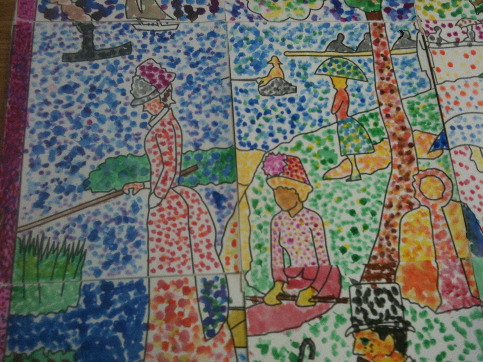 Seurat Pointillism Mural (and more!)