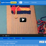 Tayli's YouTube video: 'Weaving on a Cardboard Loom'
