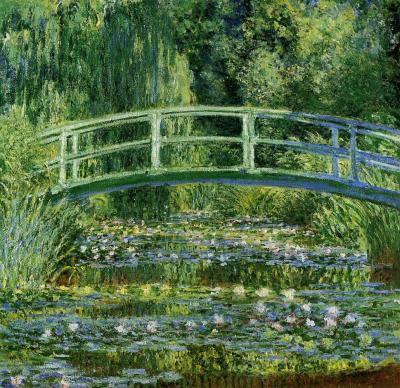 """Le Bassin aux nymphéas"" 1899. One of many of Monet's water lily paintings."
