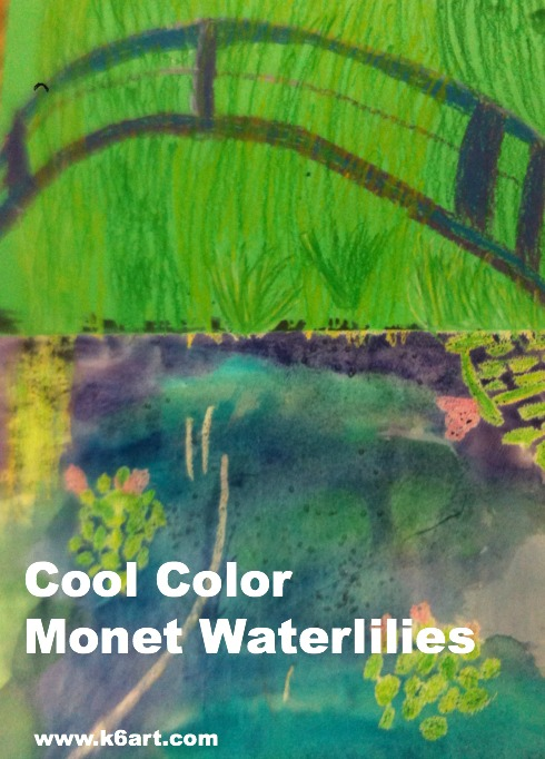 cool color monet waterlilies