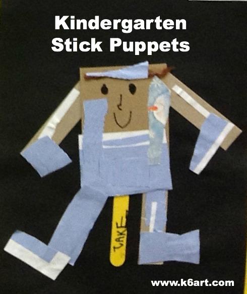 kindergarten stick puppets