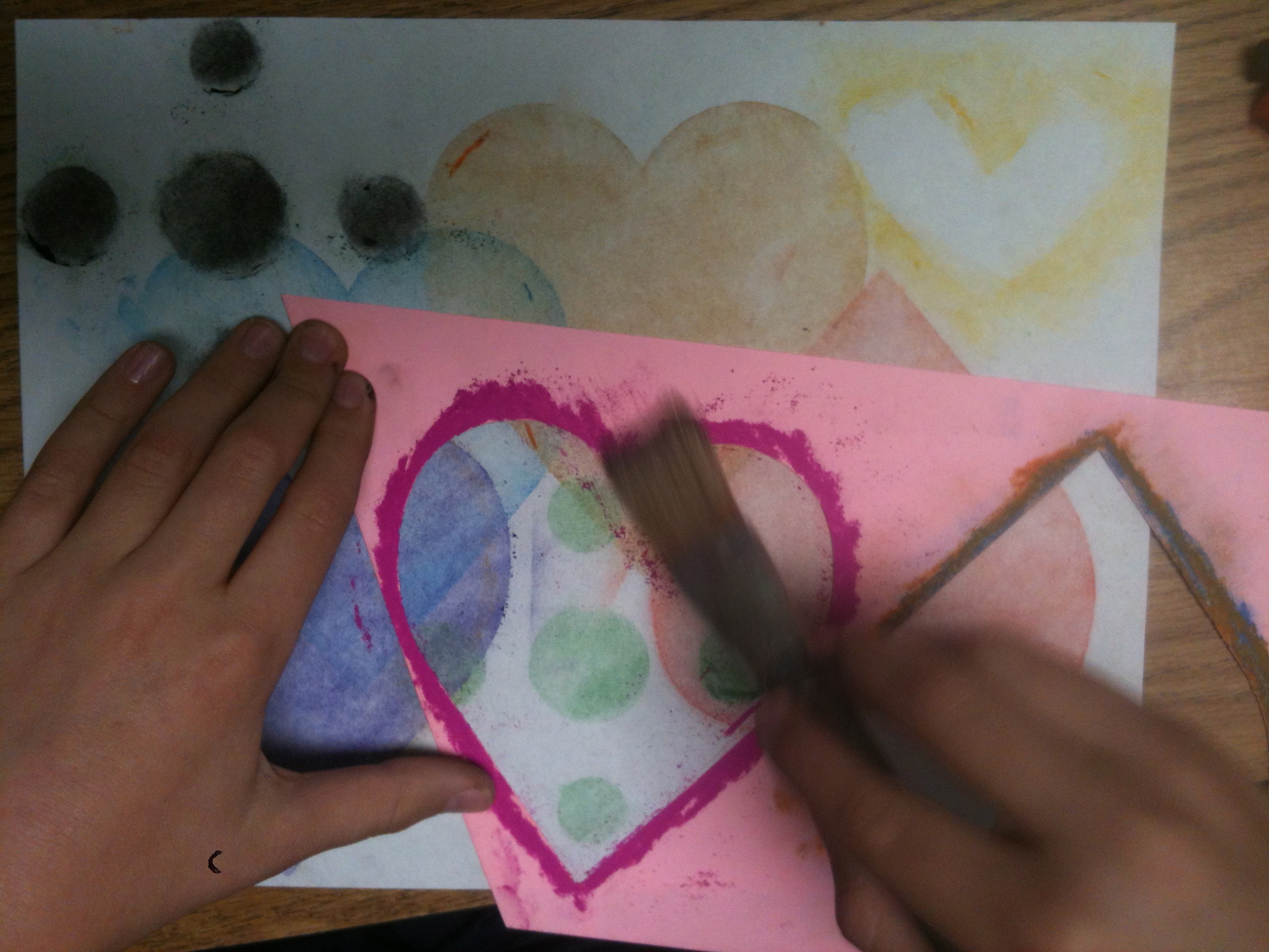 chalk pastel stencils - quick  easy and beautiful - k