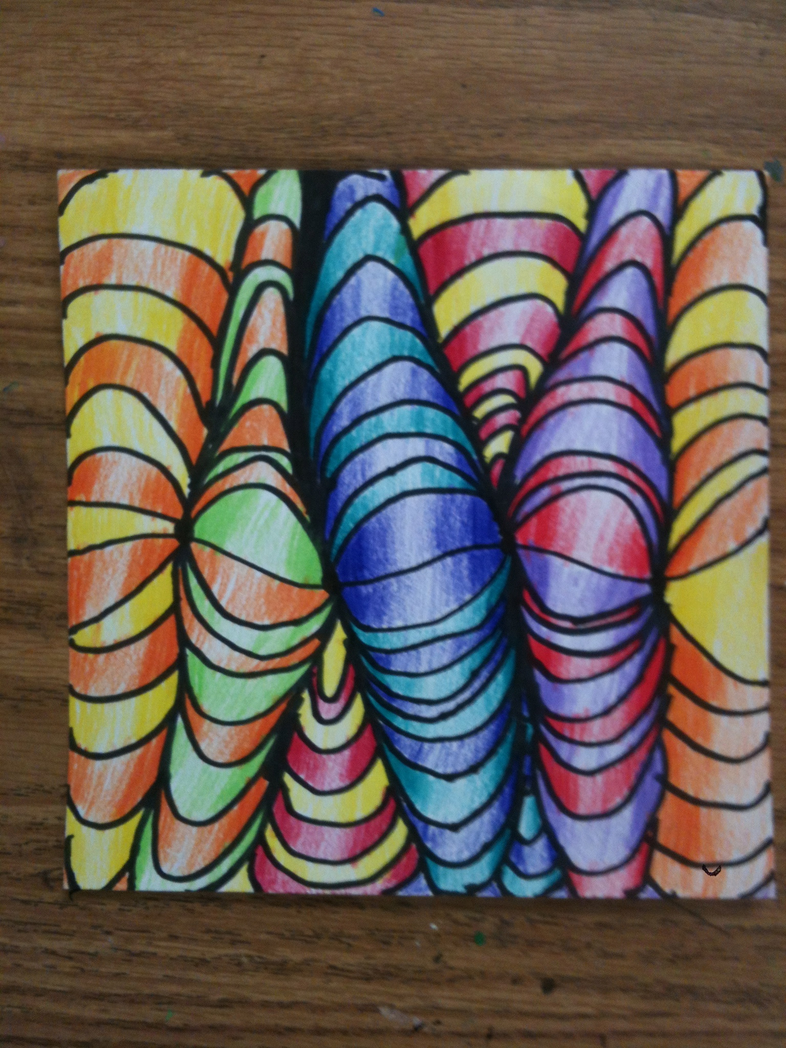 Line Art Projects : Do the mini op art line shading lesson on a smaller scale