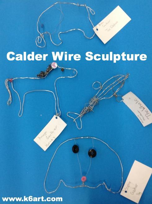 calder wire sculpture finale 2012