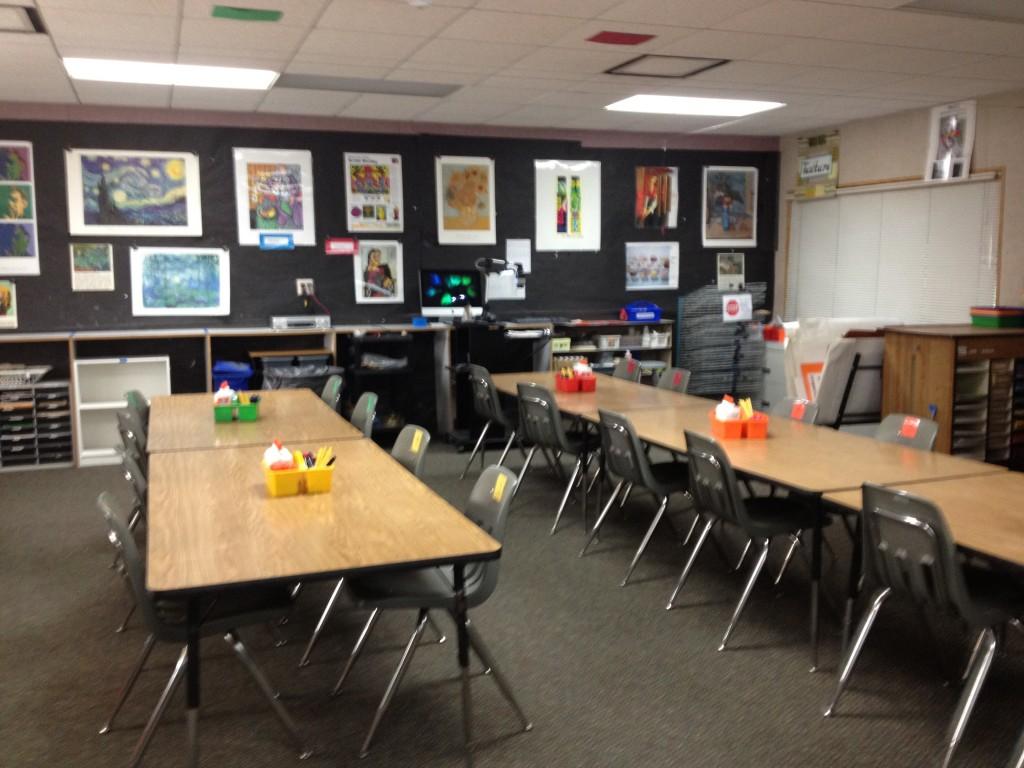 Neutral Classroom Decor ~ Art room opening day photos k artk