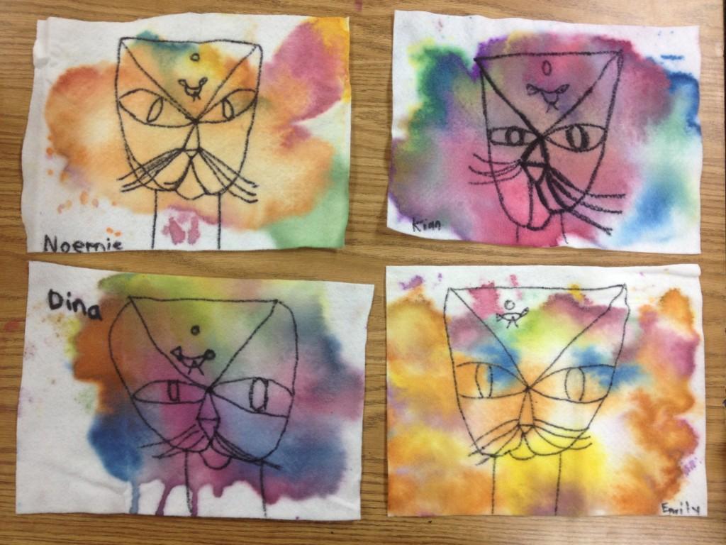 cat skull art
