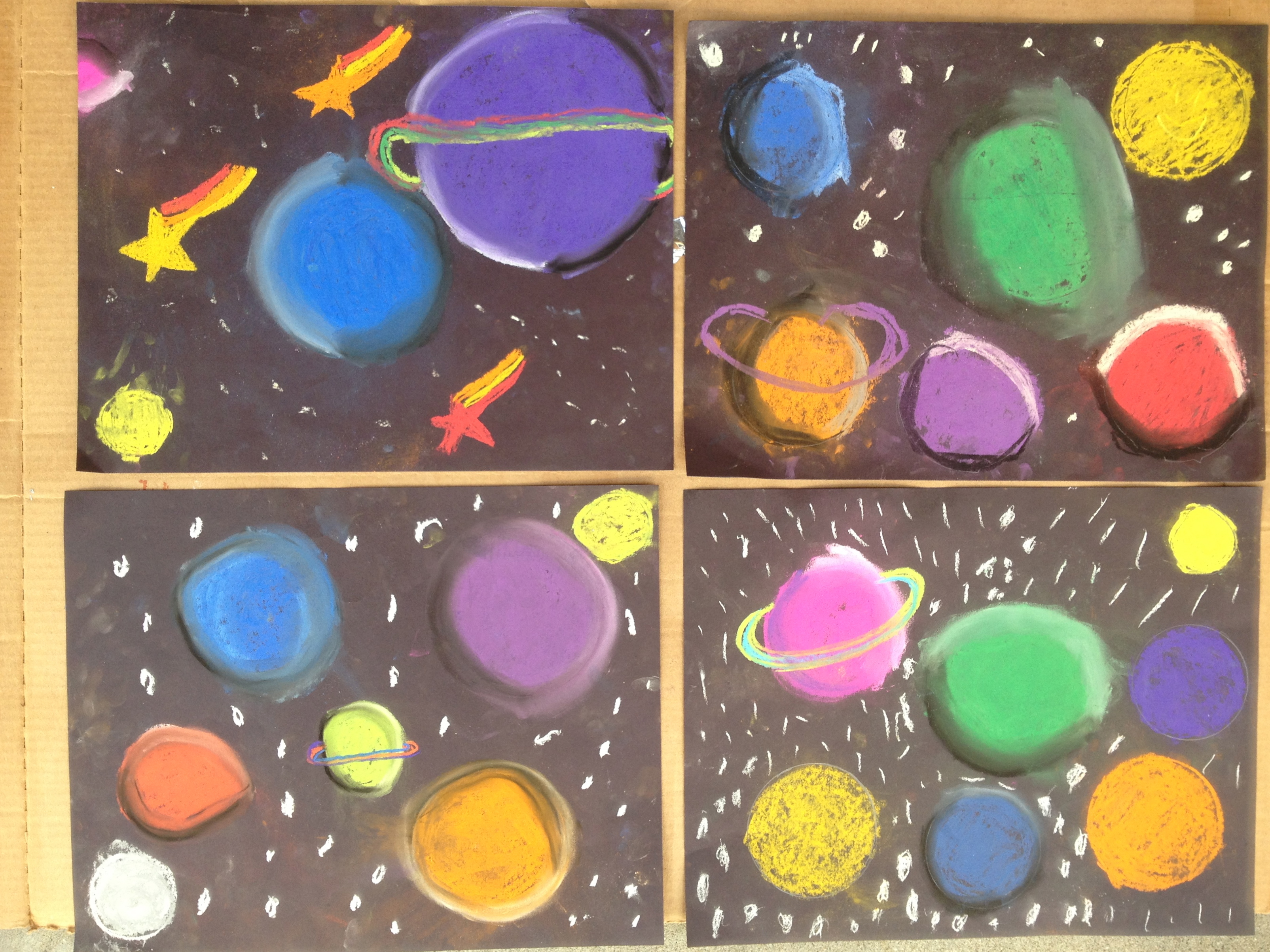 how to draw a galaxy with chalk pastels