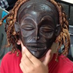 Wood and fiber mask from Zambia