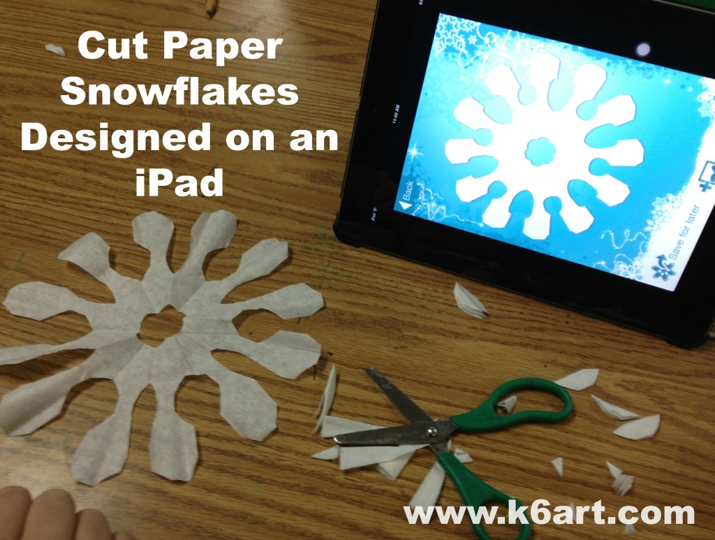 Cut Paper Snowflakes Designed on an iPad