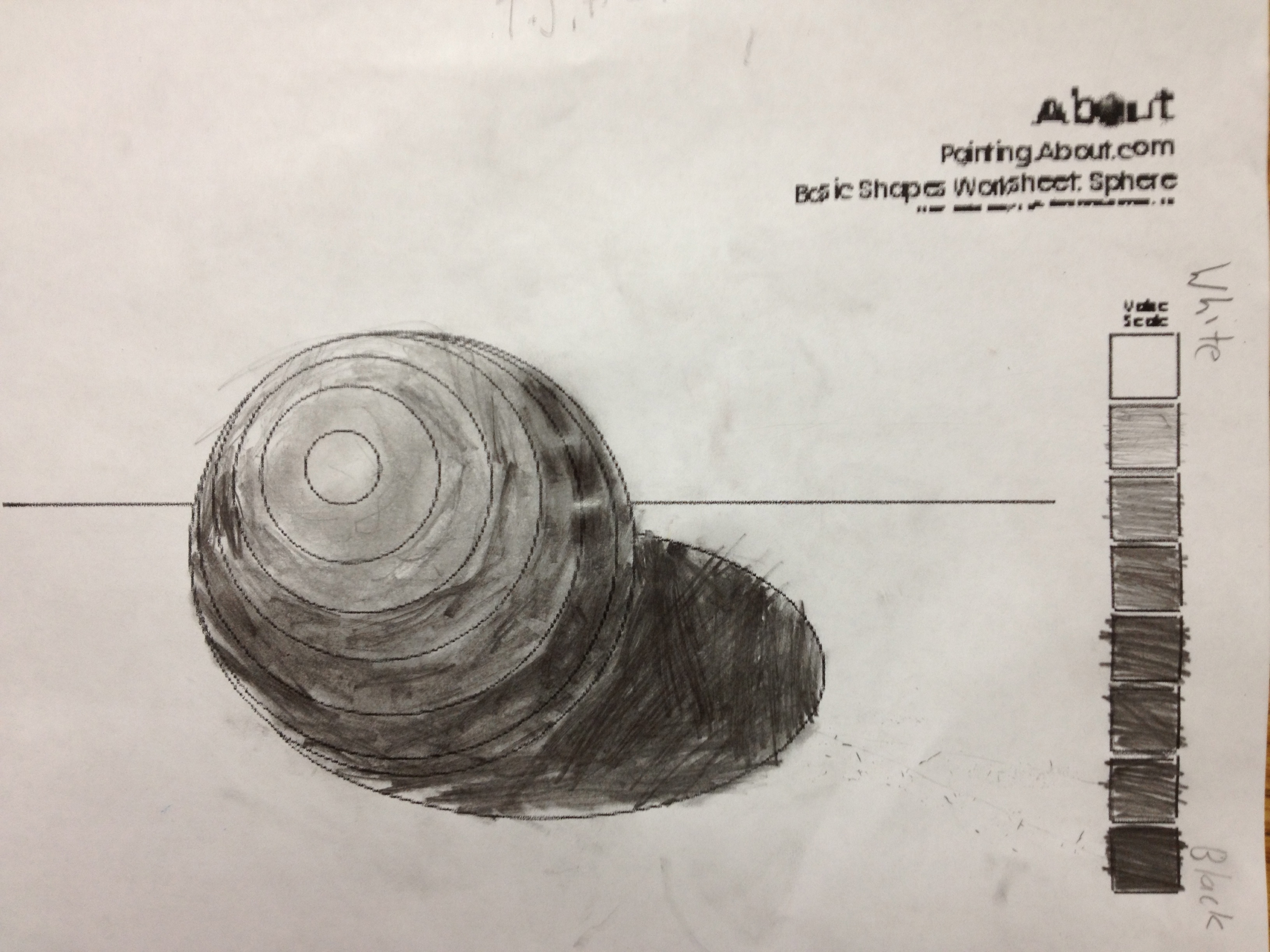 drawing and shading geometric forms k 6 artk 6 art
