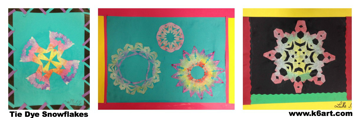 tie dye snowflake collage 1
