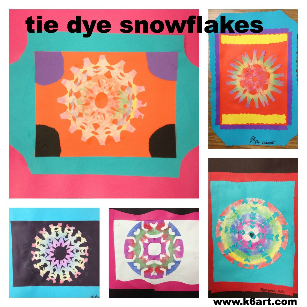 tie dye snowflake collage 3