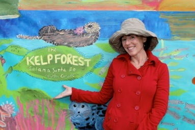 Our kelp forest mural!