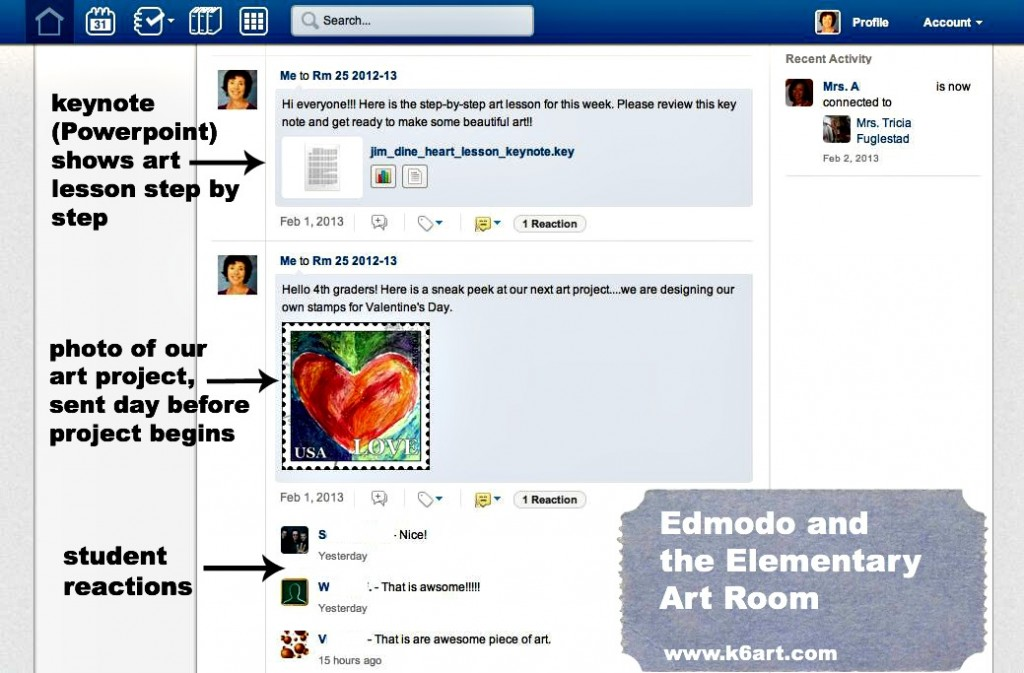 edmodo in the art room