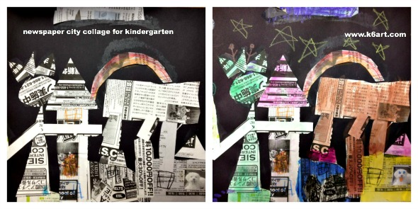 newspaper city collage 2