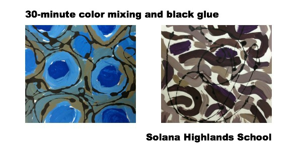 30-minute color mixing and black glue