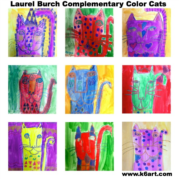 Laurel Burch Complementary Color Cats gallery