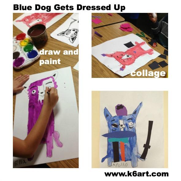 blue dog 123