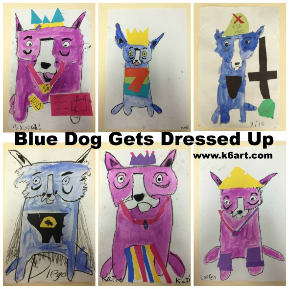 blue dog gets dressed up 2