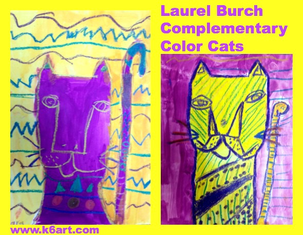 complementary color laurel burch cats