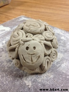 spiral clay sheep