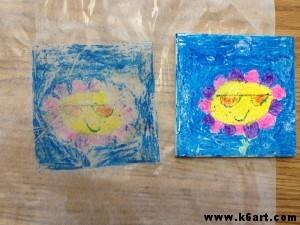 wax pastel print
