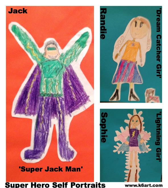 super hero collage young art