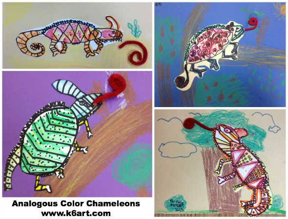 analogous color chameleon collage 1