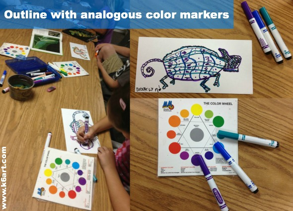 analogous color collage