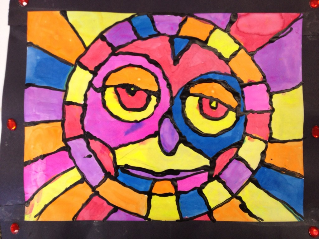 'stained glass' sun