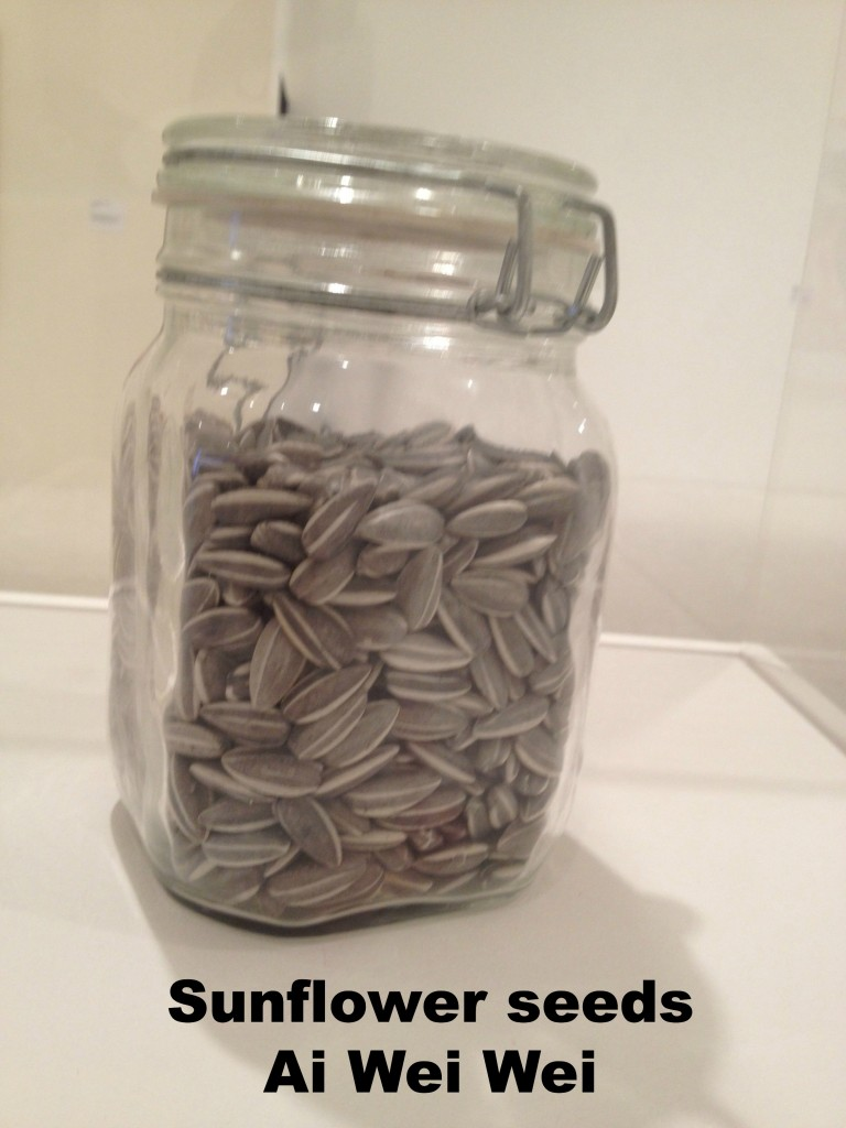 Ai Wei Wei's  porcelain sunflower seeds look absolutely real!