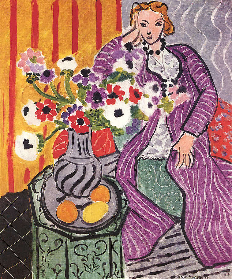 Matisse's Woman in a Purple Dress