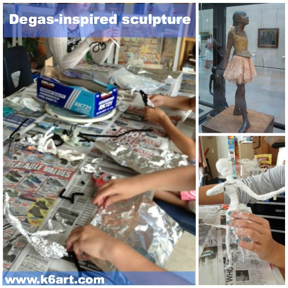 degas sculpture art camp