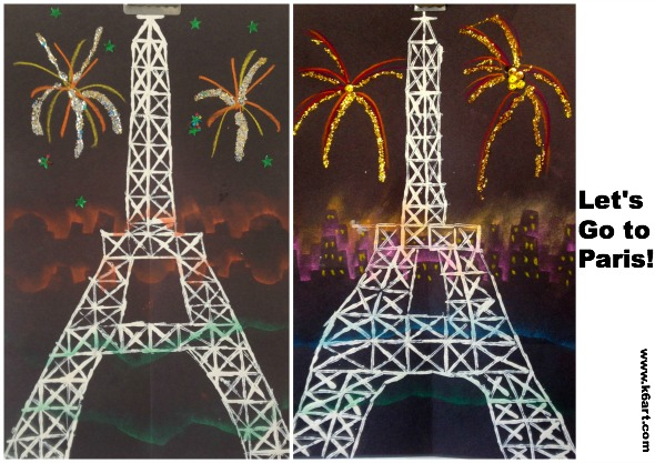 printed eiffel towers 1