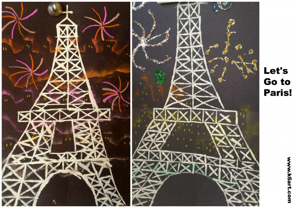 printed eiffel towers 2