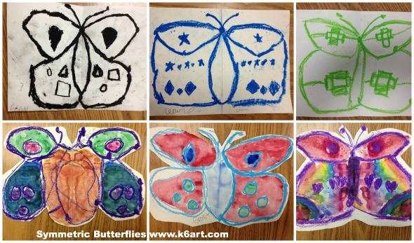 symmetric butterflies before and after