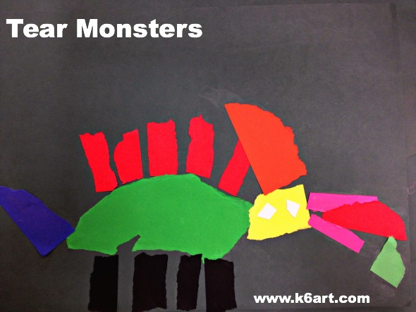 tear monsters for kindergarten and first grade