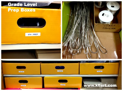 grade level prep boxes