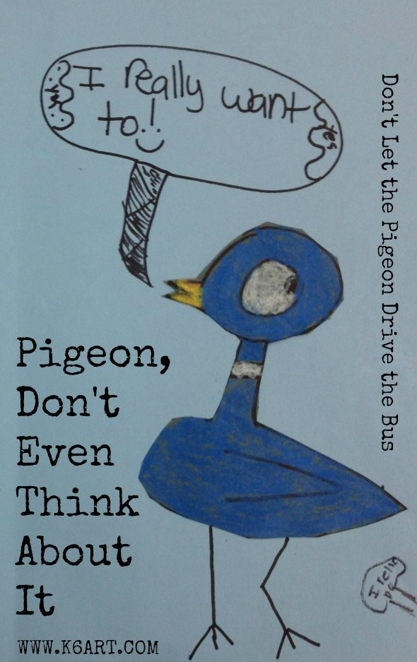 Don't Let the Pigeon Drive the Bus art project for first grade