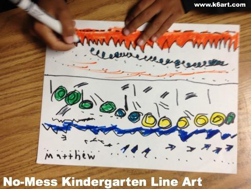 No-Mess Kindergarten Line Art 2