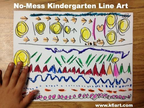 No-Mess Kindergarten Line Art 3