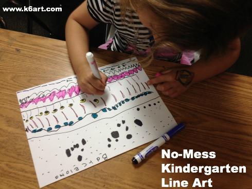 No-Mess Kindergarten Line Art