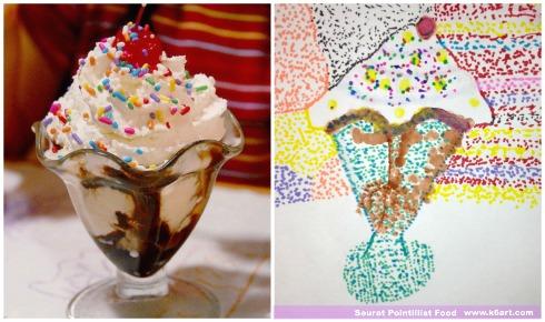 pointillist sundae