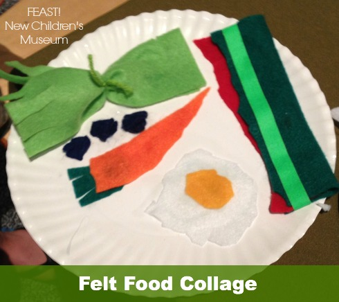 felt food collage New Children's Museum