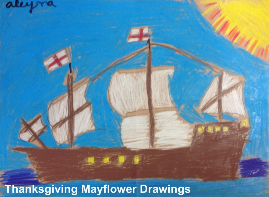 Mayflower drawing - instructions from Art Projects for Kids blog.
