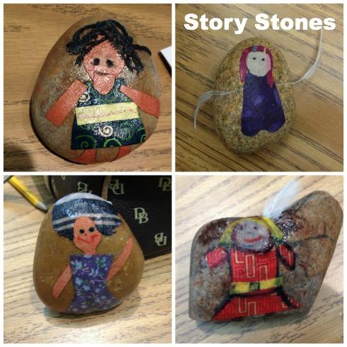 Teacher-created story stones.