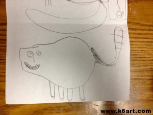 Kindergarten Magic Pear drawing