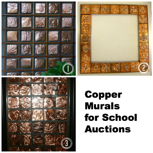 copper murals for school auctions