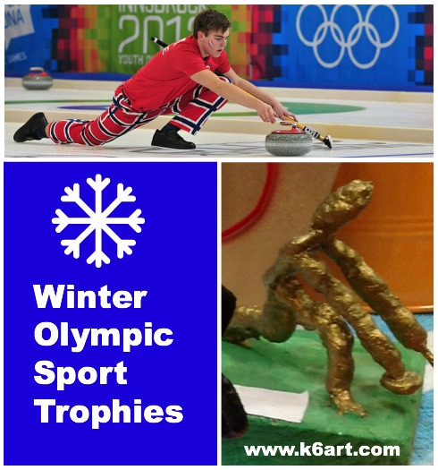 winter olympic curling trophy